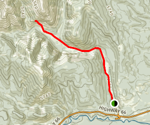 Canyon Creek Ice Cave Trail Map