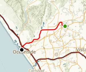 San Luis Rey Bike Path Map