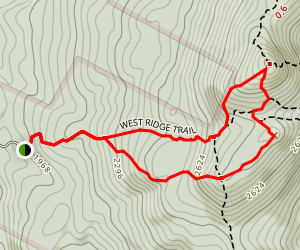 Mount Cardigan Loop Trail Map
