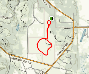 Mima Mounds Trail Map