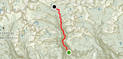 Kidney Lakes Trail Map