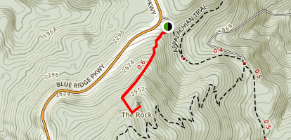Humpback Rocks Recreation Area Map