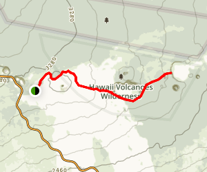 Napau Crater Trail Map