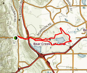 Bear Creek Lake Trail Loop Map