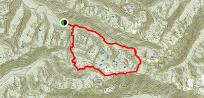 High Divide - Seven Lakes Basin Loop Map
