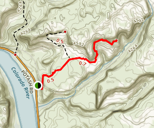 Corona and Bowtie Arch Trail Map