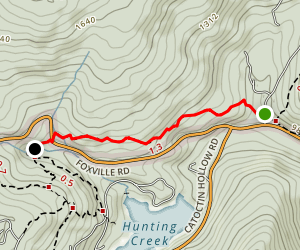 Falls Nature Trail - Catoctin Mountain Park Map