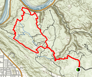 Slickrock Mountain Bike Trail Map