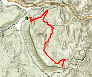 Cohab Canyon - Cassidy Arch Trail Map