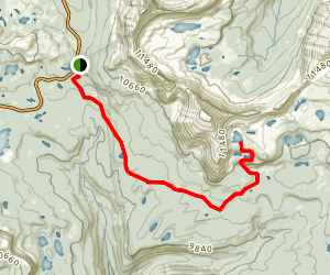 Morat and Blue Lakes Trail Map