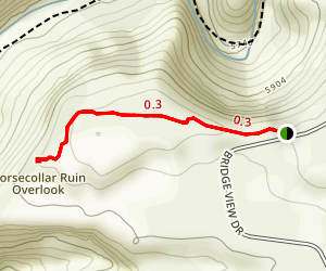 Horsecollar Ruin Trail Map