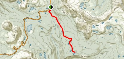 Packard and Wyman Lakes Trail Map