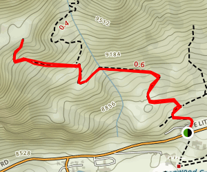 Cardiff Pass Trail Map