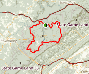 Allegheny Front Trail Map