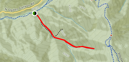 Right Fork Trail Map