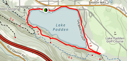 Lake Padden Singletrack Map
