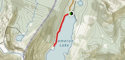 Cameron Lake Trail Map