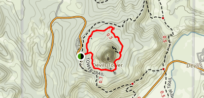Devil's Tower Trail Map