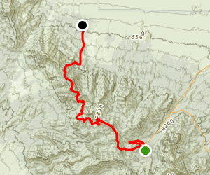 Bonanza Trail (Spring Mountains Divide Trail) Map