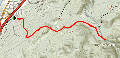 Dry Creek Falls via PCT [CLOSED] Map
