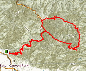 Mt. Wilson Toll Road Climb Map