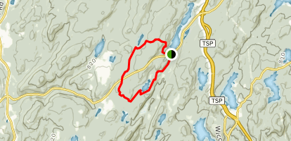 Hubbard-Perkins Conservation Area via Appalachian Trail Loop Map