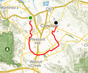 Contra Costa Canal Trail Map