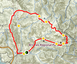 Briones Crest Trail and Valley Loop Trail Map