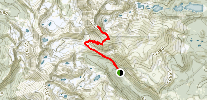 South Arapahoe Peak via Arapahoe Glacier Trail Map