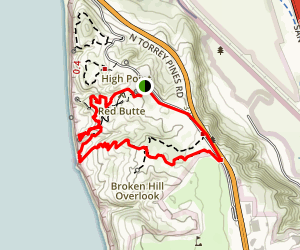Beach Trail / Broken Hill Trail Loop (CLOSED) Map