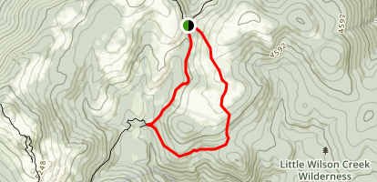 AT and Scales Loop Trail Map