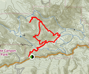 Burro Trail to Windy Peak Map