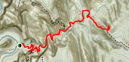 Echo Canyon Trail Map