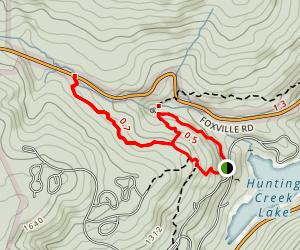 Cunningham Falls Upper Trail Map