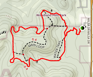 Main Loop to Vista Loop to Fern Del Trail Map