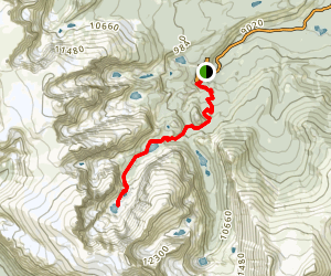 Sky Pond Trail Map