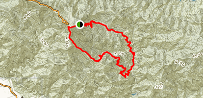 Mount Wilson Loop via Chantry Flats Map