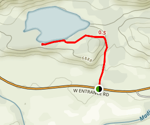 Harlequin Lake Trail Map