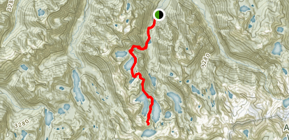 West Fork Foss River to Foss Lakes Map