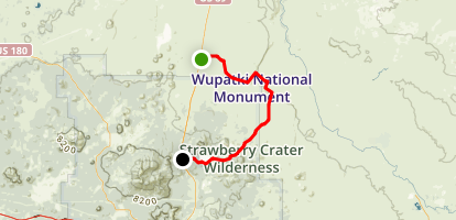 Sunset Crater and Wupatki National Monuments Scenic Drive: Sunset Crater Trail Map