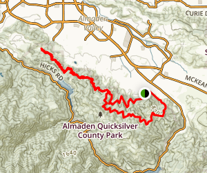 New Almaden Trail Map