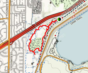 Village Greens Park North Mountain Bike Skills Trail Map
