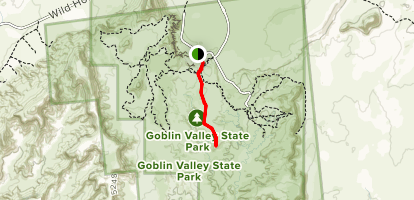 Curtis Bench Trail Map