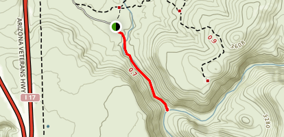 Badger Springs Wash Trail Map