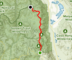 PCT: South Fork Kern River Section Map