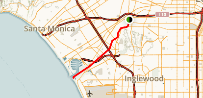 Ballona Creek Bike Path Map
