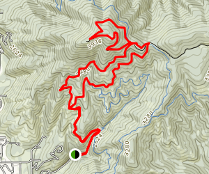 Canfield Buttes Outer Loop Map