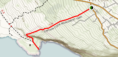 Captain Cook's Monument Trail Map