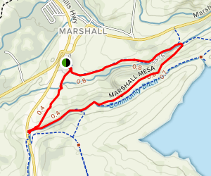 Coal Seam, Community Ditch Trail, Marshall Mesa, Mesa Valley Trail Map