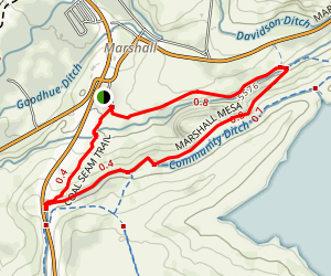 Marshall Mesa Loop Trail Map